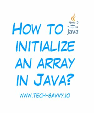 How to initialize an array in Java?
